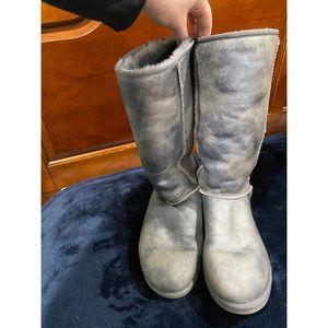 Knee High Gunmetal Ugg Boots Size 10